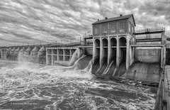 Muddy Water (Kool Cats Photography over 12 Million Views) Tags: dam lakeoverholser spillway water muddy oklahoma oklahomacity oklahomacitymetro river sky bluesky clouds rushingwater ef1635mmf4lisusm canoneos6d