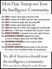 How Dare Trump not Trust the Intelligence Community!