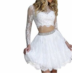 White and Gold Two Piece Prom Dress Short Homecoming Dresses Shop Now   Prom Dress Hut (promdressesjvn) Tags: jovani prom dress pageant dresses sexy night gown uk