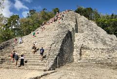 Nohoch Mul Pyramid - Cobá Maya Ruins - Coba Mexico (mbell1975) Tags: tulum quintanaroo mexico nohoch mul pyramid cobá maya ruins coba yucatán peninsula yucatan mayan archeological park parc pyramide ancient mesoamerican steps step ruin