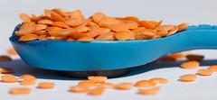 A spoonful of red split lentils - Macro Monday and Macro Wednesday (alisonhalliday) Tags: macro food canoneos77d sigma105mm macromondays aspoonful lentils spoon orange cmwdorange cmwd