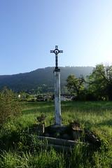 Cross @ Hike to Mont Orchez (*_*) Tags: spring printemps 2019 may morning matin europe france hautesavoie 74 hiking mountain montagne nature randonnee walk marche catholic christian cross croix montorchez chablais