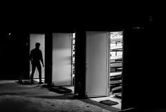 Arrival (Lea Ruiz Donoso) Tags: art arte artistic blackandwhite blackwhite bw blancoynegro people persona silhouette siluetas city madrid monochromo nikon españa spain sombra shadow sombras shadows ciudad urban nocturno noche