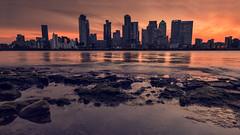 London's Burning (Andrew G Robertson) Tags: london canary wharf cityscape sunset sunrise greenwich