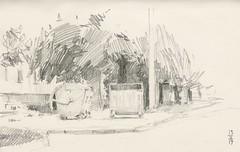 Garbage bins (Bohdan Tymo) Tags: pencil drawing