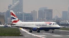 CityFlyer (Treflyn) Tags: embraer erj170 e70 e170 glcyf ba british airways cityflyer runway london city airport lcy glasgow gla