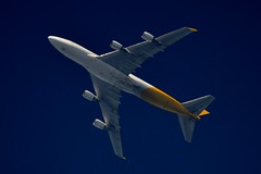 Kalitta Air Boeing 747F (stephenjones6) Tags: jet civil aircraft aviation air kalitta boeing b747 b747f freighter cargo usa ott extremespotting nikon d3200 dobsonian telescope skywatcher sky blue jumbo jumbojet 4engines b747400f