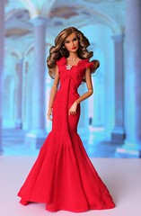 Jaeme red Gown (Annette29aag) Tags: doll fashion fashionroyalty jaemecostas stylelab red gown barbiegored