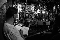 THE ARTIST - GONG AT THE CLUNY (Russell Photographic Images) Tags: blackandwhite monochrome thecluny music gigs newcastleupontyne pentax smcpentaxda1017mmf3545ediffisheyezoom art artist sketch