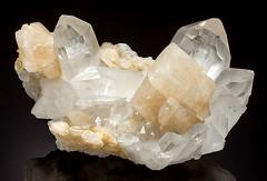 Denver2017_244_Quartz_Calcite_PizBeverinSwitzerland170mm (2) (karadogansabri) Tags: 170mm calcite denver exceptionalminerals graubunden grischun hinterrheinvalley kward0917 mathon pizbeverin quartz schams switzerland mineral