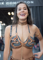 Leia Has a Laugh (Paul Ocejo) Tags: leia slaveleia hutt slayer starwars cosplay costume convention comiccon nycc nyc newyorkcomiccon newyorkcity jacob javitscenter javits