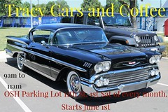 Tracy Cars & Coffee Flyer (Pro Photo Photography) Tags: tracycarsandcoffee 1stsundayofthemonth tracy 209 thingstodointracy car truck motorcycle coffee carscoffee classic oldschool newschool lowered stock modified lifted norcalshows norcalcars carsinthe209 chevrolet ford import domestic hotrod custom v8 v6