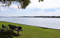 Bench Monday (Daryll90ca) Tags: hbm benchmonday bench water river stclairriver
