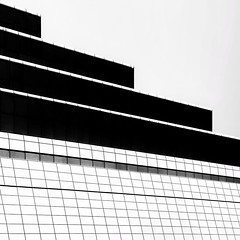 Black & White Abstract (2n2907) Tags: blackwhite abstract architecture photo glass windows building skyscraper graphic geometric geometry pattern lines graphical olympus omd mirrorless