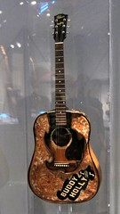 Buddy Holly Guitar (edenpictures) Tags: playitloud instrumentsofrockroll metropolitanmuseumofart themet exhibit exhibition show guitar musicalinstrument