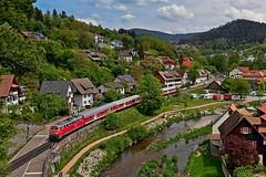 218 499 auf Abschiedsfahrt ... (christianwolf2) Tags: schwarzwald baden kinzigtal schiltach freudenstadt alpirsbach hausach baureihe 218 db regio