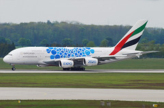 """Emirates Airbus A380-800 A6-EOC """"Expo 2020 blue"""" (gooneybird29) Tags: flugzeug flughafen aircraft airport airplane airline muc emirates airbus a380 a6eoc"""