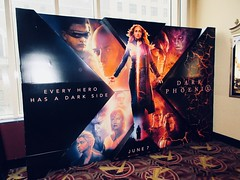 X-Men Movie - Dark Phoenix Standee NYC 7992 (Brechtbug) Tags: xmen movie dark phoenix billboard poster standee nyc 2019 new york city film science fiction scifi marvel super hero midtown street manhattan marquee space electric x men 05122019 may comic book comics comicbook spider man silver reflection mirror