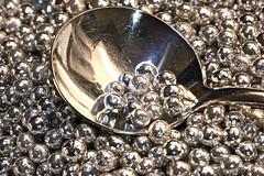 "Hi-Yo Silver - Macro Monday - ""A Spoonful"" (not beck) Tags: macromonday macro monday aspoonful spoonful spoon silver balls decoration dragees"
