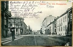 tm_11451 (Tidaholms Museum) Tags: svartvit positiv blackandwhite skövde skovde skaraborg stadsvy kungsgatan centrum
