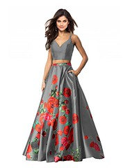 Two Piece Floral Prom Dresses Shop Now   Prom Dress Hut (promdressesjvn) Tags: jovani prom dress pageant dresses sexy night gown uk