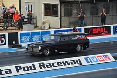 (Sam Tait) Tags: volvo amazon vintage retro classic car swedish estate v8 twin turbo doorslammers santa pod raceway england 1320video