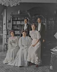 Ready for an academic festivity in Helsinki (ab. 1890) (frankmh) Tags: 1890 people group dress helsinki finland