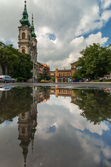 St. Anne's church after rain (Behind Budapest) Tags: 2019 365project 70d budapest canon europe hungary magyarorszag szentannatemplom vizivaros building buildingexterior church city outdoor outside reflection spiegelung spring tavasz templom town tukrozodes urban wetreflection 250v10f