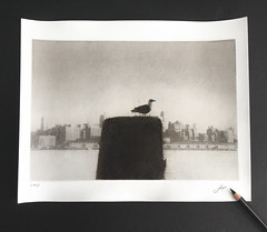 East River,New York.2003 (bromoil) (Alexander Tkachev) Tags: alternativephotography altprocess bromoil newyork fomabrom113bo 35mmfilm bwfilm alexandertkachev