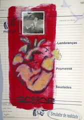 D (Regina Marcis) Tags: coração pintura com giz pastel fotografia antiga carimbos
