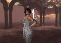 Dance With Me (*kAmmieAnn*) Tags: allurecouture fashion gown silver avatar secondlife mesh dance moon truth winter style grace cocktail dress caro