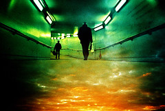 Lomo – the followers (lomomowlem) Tags: 35mm analogue crossprocess colourstreambrighton clouds doubleexposure dark expiredfilm green kodakelitechrome lomo lomography lca lofi london multipleexposure silhouette sunset subterranean tunnel underground urban xprocess xpro pedestrian sky
