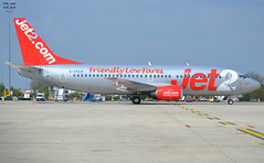 "G-CELE, Boeing 737-33A, 24029 / 1601, Jet2, ""Jet2 Belfast"", CDG/LFPG, 2019-04-14, Quebec ramp at Terminal T3. (alaindurandpatrick) Tags: 240291601 gcele 737 733 737300 boeing boeing737 boeing737300 jetliners airliners ls exs channex jet2 airlines cdg lfpg parisroissycdg airports aviationphotography"
