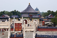 Temple of Heaven, Beijing, China (Miche & Jon Rousell) Tags: china beijing templeofheaven imperialvaultofheaven temple beams blue green gold phoenix