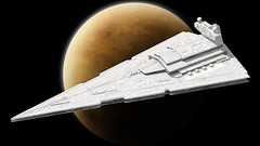 28 Imperial Star Destroyer (Kurt's MOCs) Tags: kurtsmocs kurt moc lego ldd studio povray model digital stardestroyer starwars star wars legostarwars imperial space moon planet rendering render