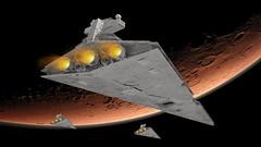 26 Imperial Star Destroyer (Kurt's MOCs) Tags: kurtsmocs kurt moc lego ldd studio povray model digital stardestroyer starwars star wars legostarwars imperial space moon planet rendering render