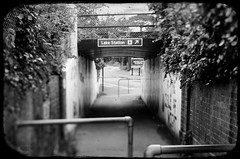 Station Underpass (Alex . Wendes) Tags: station underpass blackandwhite bw digitalbw edge35 edge35optic lensbaby lensbabycomposor d7000 nikond7000