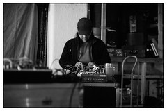 Russell Haswell @ Cafe Oto, London, 19th May 2019 (fabiolug) Tags: modularsynth modularsynthesiser modularsynthesizer modular synth synthesiser synthesizer electronic electronics russellhaswell silhouette beer drink glass pint mikavainio mikavainiobirthdaymemorialbooklaunch pansonic panasonic blastfirst cafeoto london dalston music gig performance concert live livemusic leicammonochrom mmonochrom monochrom leicamonochrom leica leicam rangefinder blackandwhite blackwhite bw monochrome biancoenero zeisscsonnartf1550mmzm zeisszm50mmf15csonnar zeisscsonnar zeisssonnar zeiss sonnar 50mm sonnar50mm 50mmf15