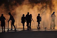Urban life Silhouettes at Sunset (natureloving) Tags: sunset silhouette urbanlifesilhouettes natureloving nikon d90 mist nikonafsdxnikkor18300mmf3563gedvr paris
