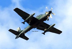 """A-29 - Embraer Super Tucano - """"Flecha 142"""" (celso.mazzei) Tags: embraer a29 supertucano fab aeronaveavião avião air airport airforce aeronáutica esquardrão aircraft airplane pontaporã flecha tgl forçaaérea fly aviation ala5"""
