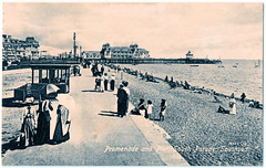 Southsea - Promenade and Pier Prior to 1912 (pepandtim) Tags: postcard old early nostalgia nostalgic southsea promenade pier valentines series 02091912 1912 southside common wimbledon london ethel minnie will calgary stampede