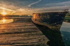 DSC05176-01 (karstenlützen) Tags: germany brandenburg schlaubetal müllrose katharinensee jetty sunrise waterfront riverside