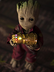 Baby Groot Found a Gauntlet (Jezbags) Tags: babygroot groot iamgroot avengers guardiansofthegalaxy guardians canon canon80d 80d 100mm macro macrophotography macrodreams infinitywar endgame gauntlet infinitygauntlet