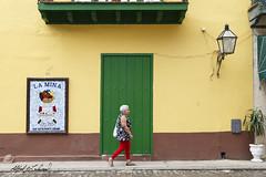 Havana Woman Walking_MG_3698 (Alfred J. Lockwood Photography) Tags: alfredjlockwood travelphotography streetphotography cuba plazadearmas spring noon building woman walking walker door streetportrait cuban