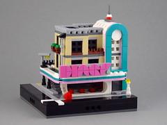 Mini Downtown Diner (Swan Dutchman) Tags: lego downtowndiner mini modular micro micropolis