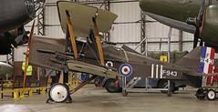 F943 SE5 REPLICA YORKSHIRE AIR MUSEUM ELVINGTON (toowoomba surfer) Tags: biplane aviation aircraft museum airmuseum aviationmuseum