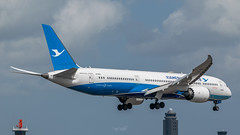 Xiamen Boeing 787 (piotrkalba) Tags: boeing airplane narita airport nrt rjaa plane spotting nikon d5300