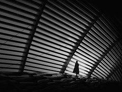 ...breathe... (*ines_maria) Tags: light architecture woman future lines city downtown ctre singapore bw monochreom gh5 dcgh5 panasonic outside lonely business