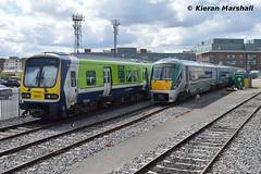 29010 and 22053 at Connolly, 11/5/19 (hurricanemk1c) Tags: railways railway train trains irish rail irishrail iarnród éireann iarnródéireann 2019 class29000 caf commuter 29010 dublin connolly 22000 rotem icr rok 3pce 22053