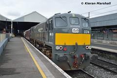 074 at Connolly, 11/5/19 (hurricanemk1c) Tags: railways railway train trains irish rail irishrail iarnród éireann iarnródéireann 2019 rpsi railwaypreservationsocietyofireland generalmotors gm emd 071 waterfordandlimerickrailtour 074 0830connollym3parkway dublin connolly